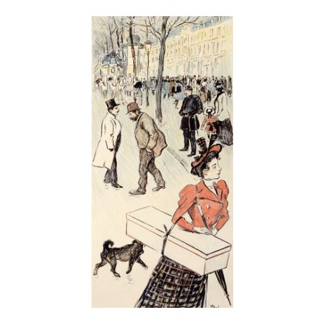 "THEOPHILE ALEXANDRE STEINLEN ""Street Scene"" print choose SIZE, from 55cm up, NEW"