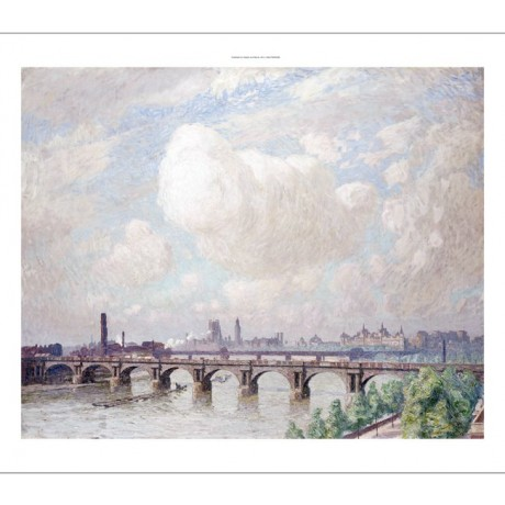 "EMILE CLAUS ""Waterloo Bridge"" landscape ON CANVAS choose SIZE, from 55cm up, NEW"