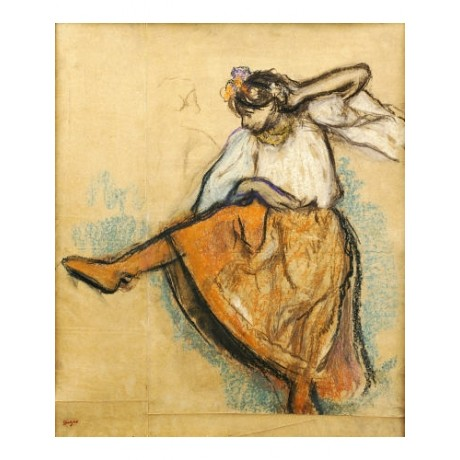 "EDGAR DEGAS ""Russian Dancer"" print ON CANVAS choose SIZE, from 55cm upwards, NEW"