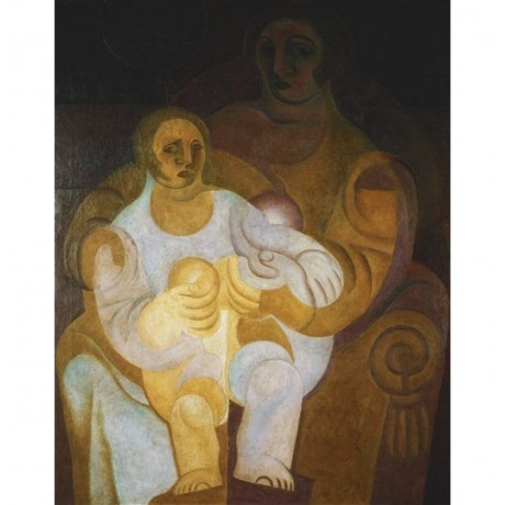 "Juan Gris ""Mother and Child"" impressionism haunting ghosts shadows CANVAS PRINT"