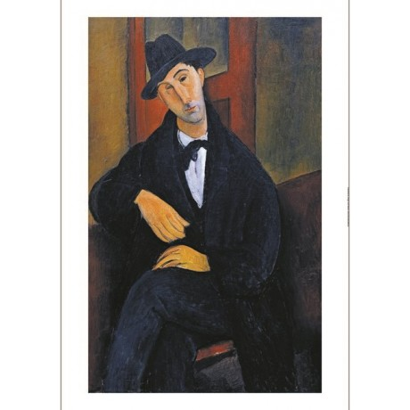 "AMEDEO MODIGLIANI ""Portrait Of Mario"" ON CANVAS choose SIZE, from 55cm up, NEW"
