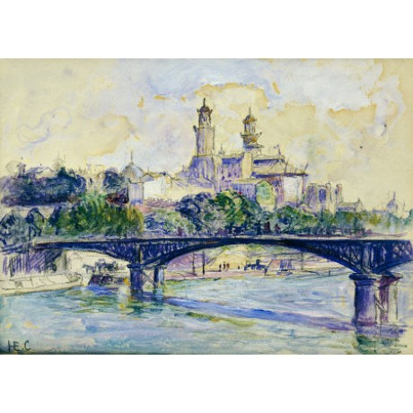 HENRI-EDMOND CROSS Seine Trocadero Paris Print new choose SIZE, from 55cm up