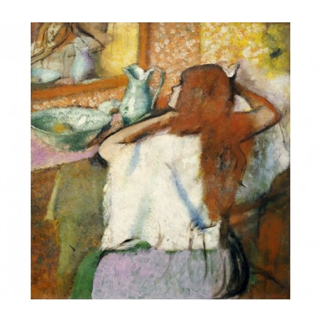 "EDGAR DEGAS ""Woman At Her Toilet"" print ON CANVAS choose SIZE, from 55cm up, NEW"
