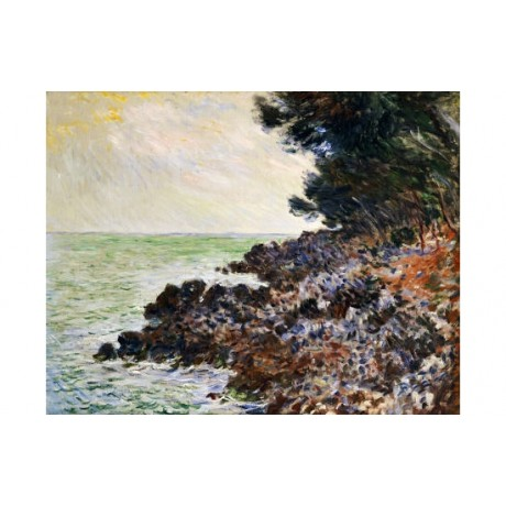 "CLAUDE MONET ""Cap Min"" print ON CANVAS great art! choose SIZE, from 55cm up, NEW"