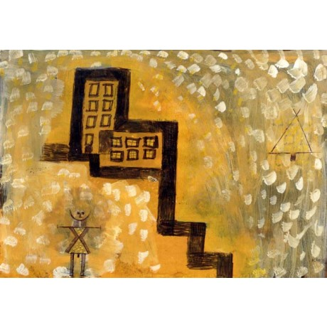 PAUL KLEE The House on the Hill GIRL alone dots window yellow NEW CANVAS PRINT