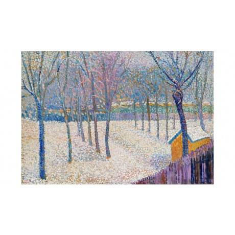 "HIPPOLYTE PETITJEAN ""Orchard In Snow"" ON CANVAS choose SIZE, from 55cm up, NEW"