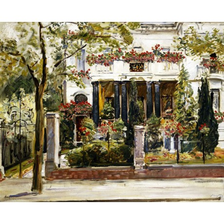 MAX SLEVOGT Front Garden of the Steinbart Villa in Berlin BLOSSOM canvas PRINT