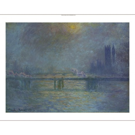 "CLAUDE MONET ""Charing Cross Bridge, Thames"" print choose SIZE, from 55cm up, NEW"