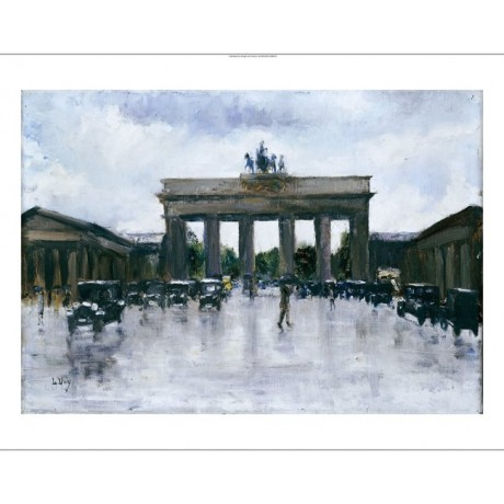 "LESSER URY ""Brandenburg Gate"" architecture ON CANVAS various SIZES available"