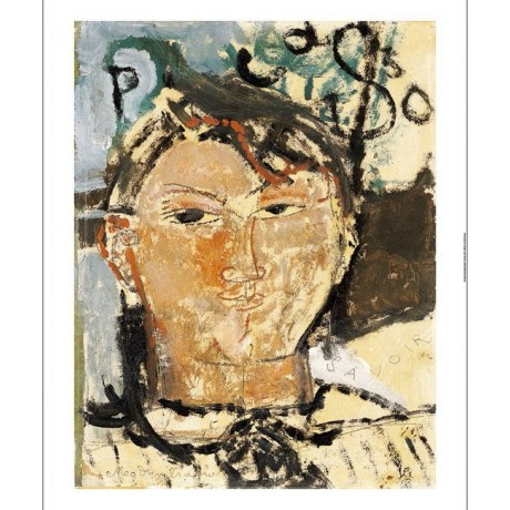 "AMEDEO MODIGLIANI ""Portrait De Picasso"" print NEW choose SIZE, from 55cm up, NEW"