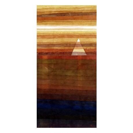 STUNNING, HAUNTING CANVAS PRINT Solitary YACHT sunset bon voyage sea PAUL KLEE