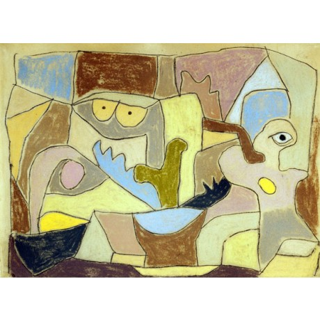 "BEGUILING CANVAS PRINT ""...True Also for Plants"" WATCHFUL face eyes PAUL KLEE"