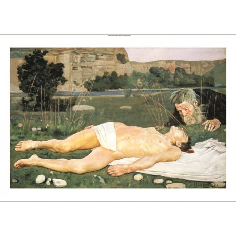 "FERDINAND HODLER ""Good Samaritan"" Nude Male ON CANVAS various SIZES, BRAND NEW"