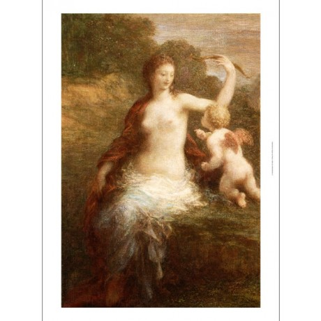 "HENRI FANTIN-LATOUR ""Love Disarmed"" Nude Cupid Print various SIZES available"