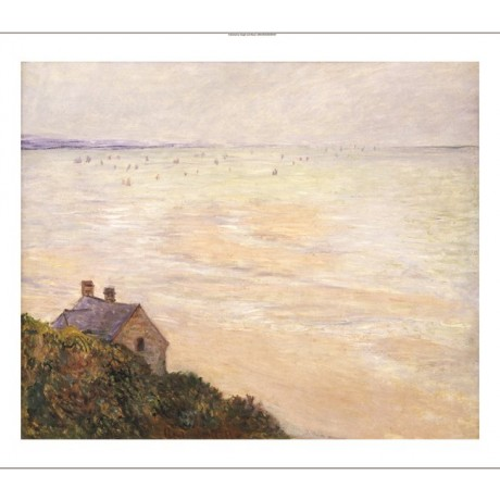 "CLAUDE MONET ""Hut At Trouville; Low Tide"" PRINT new various SIZES available, NEW"