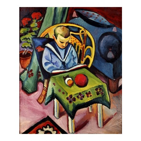 "AUGUST MACKE ""Young Boy With Books And Toys"" print NEW various SIZES, BRAND NEW"