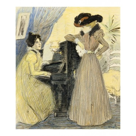 "THEOPHILE ALEXANDRE STEINLEN ""Great Pains"" Women Print various SIZES available"