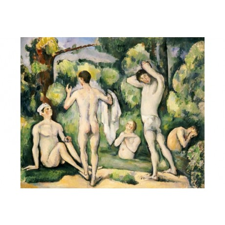 "PAUL CEZANNE ""Five Bathers"" Nude MALE CANVAS ART ! choose SIZE, from 55cm up"