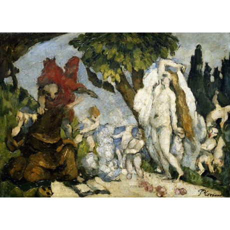 PAUL CEZANNE The Temptation of Saint Anthony NYMPH nude christian CANVAS PRINT