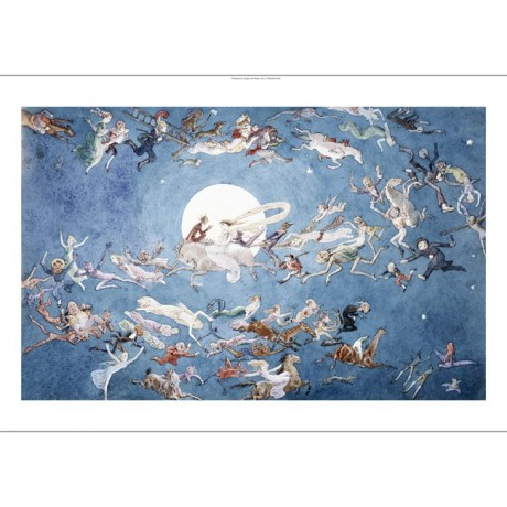 "CHARLES ALTAMOUNT DOYLE ""A Dance Round The Moon"" CANVAS various SIZES, BRAND NEW"