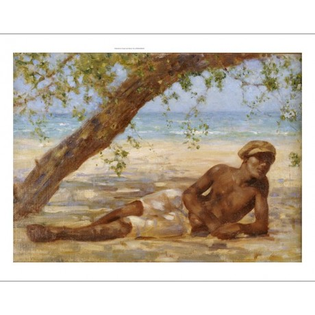 "HENRY SCOTT TUKE ""Samuel Under A Tree, Jamaica"" Print various SIZES, BRAND NEW"