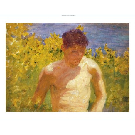 "HENRY SCOTT TUKE ""Johnny Jackett"" Male NUDE ON CANVAS various SIZES, BRAND NEW"