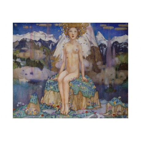 "FRAMPTON ""Love In The Alps"" FAIRYTALE peak petal rock sky snowcapped NEW CANVAS"