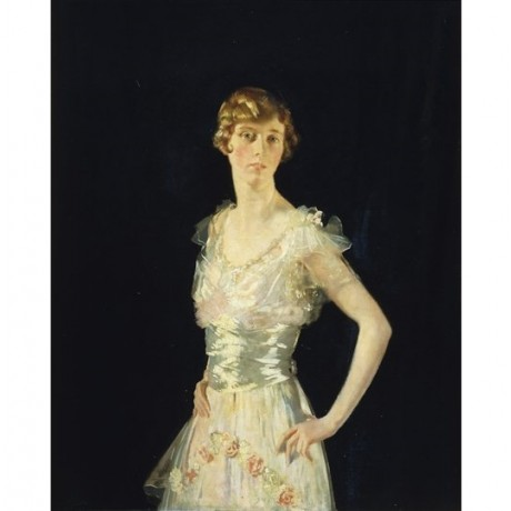 "Sir William Orpen ""Portrait of Gardenia"" upset over affair angry evening dress"