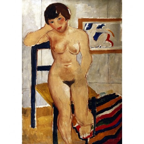 CHRISTOPHER WOOD Nude with a Striped Rug GUINNESS naked gaze NEW CANVAS PRINT!