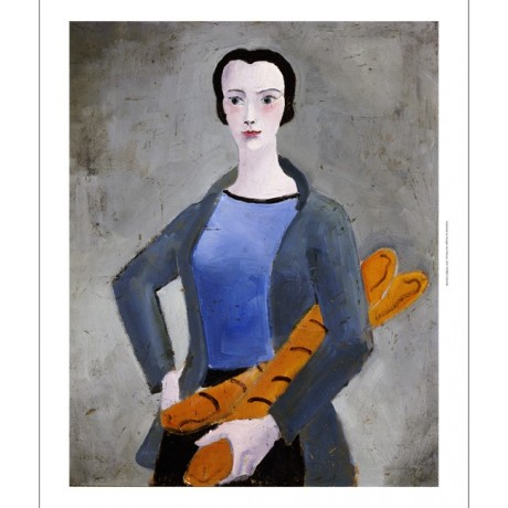"CHRISTOPHER WOOD ""Girl With Bread"" portrait ON CANVAS various SIZES available"