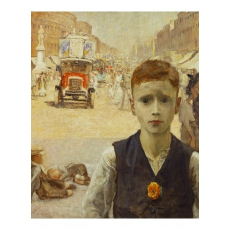 "URSULA WOOD ""London Summer (Boy in Busy Street)"" CANVAS various SIZES, BRAND NEW"