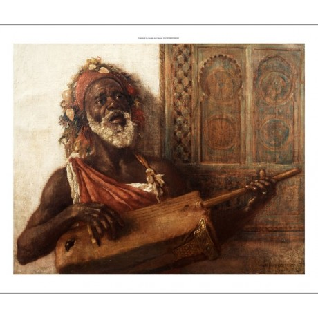 ALOYSIUS O'KELLY The Musician SINGING african stringed instrument CANVAS PRINT