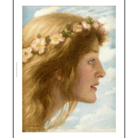 "EDWARD ROBERT HUGHES ""Day"" Beauty PRINT ON CANVAS choose SIZE, from 55cm up, NEW"