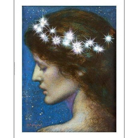 "EDWARD ROBERT HUGHES ""Night"" Beauty CANVAS ART ! choose SIZE, from 55cm up, NEW"