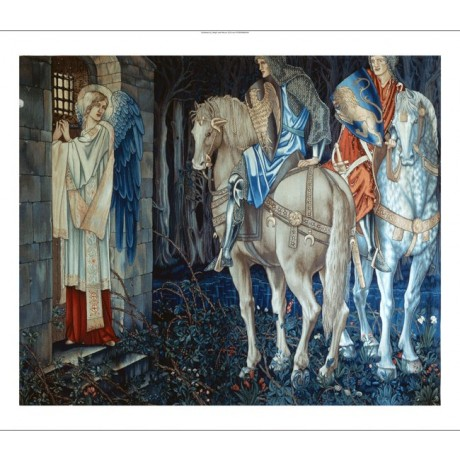 "EDWARD COLEY BURNE-JONES ""Failure of Sir Gawain"" arts crafts NEW CANVAS print"