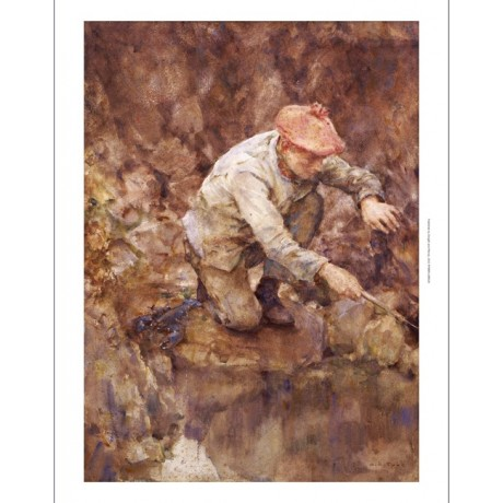 "HENRY SCOTT TUKE ""Netting Lobster"" print ON CANVAS choose SIZE, from 55cm up"