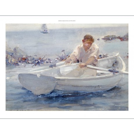"HENRY SCOTT TUKE ""Man In A Rowing Boat"" PRINT new choose your SIZE, from 55cm up"