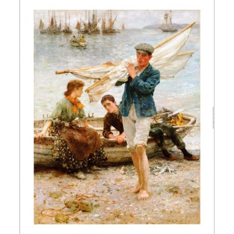 "HENRY SCOTT TUKE ""Return From Fishing"" Sea PRINT new various SIZES available"