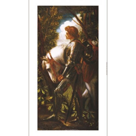 "GEORGE FREDERIC WATTS ""Sir Galahad II"" Knight PRINT new various SIZES"