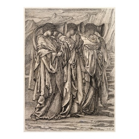SIR EDWARD COLEY BURNE-JONES Study music PRINT choose SIZE, from 55cm up, NEW