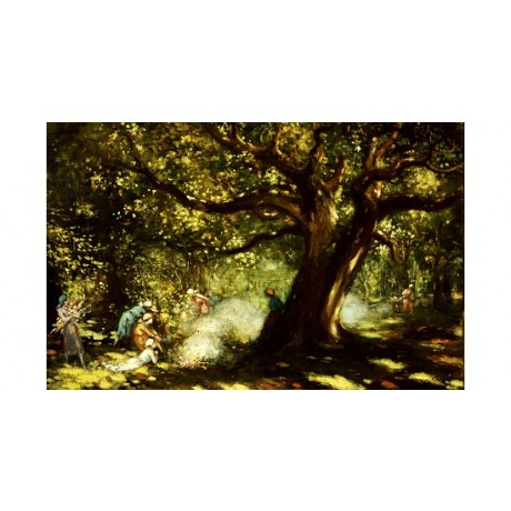 "GALWAY GEORGE RUSSELL ""Big Oak"" Forest print NEW choose SIZE, from 55cm up, NEW"