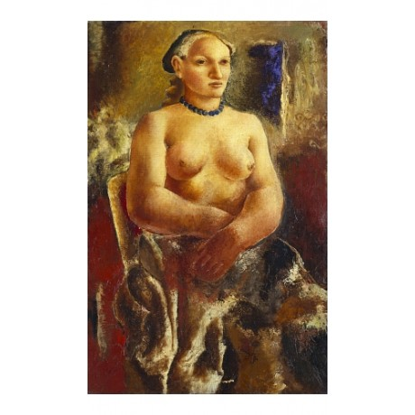 "CHRISTOPHER WOOD ""The Blue Necklace"" nude new CANVAS! various SIZES available"