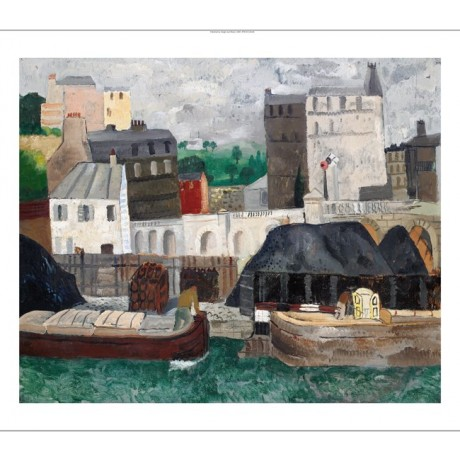 "CHRISTOPHER WOOD ""The Seine at Passy"" river town CANVAS various SIZES, BRAND NEW"