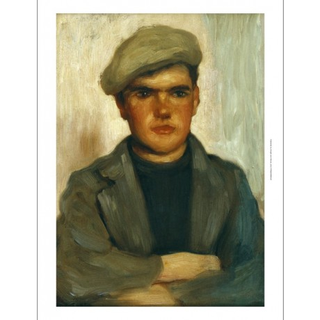 HENRY SCOTT TUKE The Fisherboy RUGGED flat cap working class NEW CANVAS PRINT!