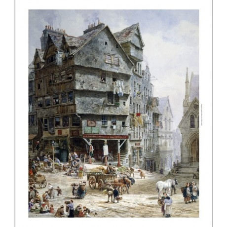 "LOUISE RAYNER ""High Street Edinburgh"" PRINT ON CANVAS various SIZES, BRAND NEW"