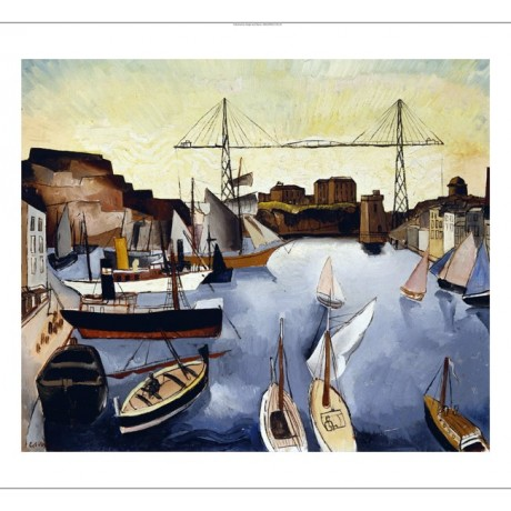 "CHRISTOPHER WOOD ""Marseilles Harbour"" new CANVAS print! various SIZES, BRAND NEW"