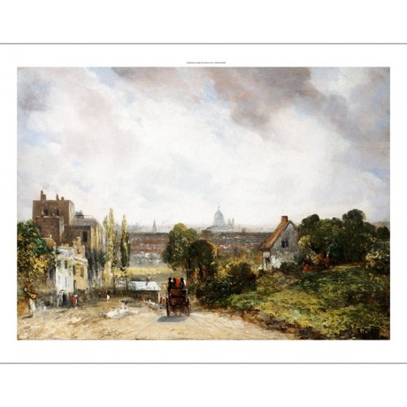 "JOHN CONSTABLE ""City Of London"" print ON CANVAS choose SIZE, from 55cm up, NEW"