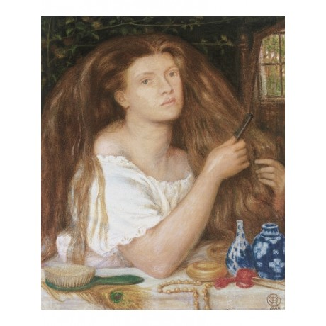 "DANTE GABRIEL ROSSETTI ""Golden Tresses"" Woman print various SIZES available, NEW"