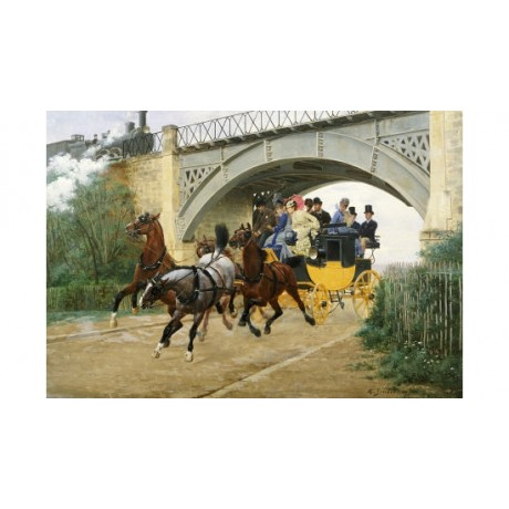 "JEAN RICHARD GOUBIE ""Startled By Steam"" Horse PRINT various SIZES available, NEW"