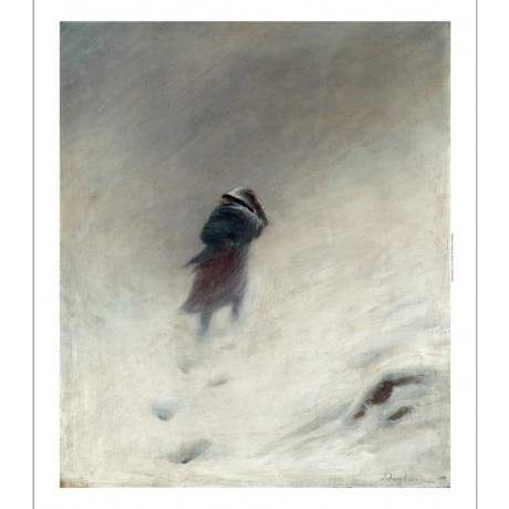 "JOSEPH FARQUHARSON ""The Blizzard"" SEVERE weather snow woman winter NEW CANVAS"